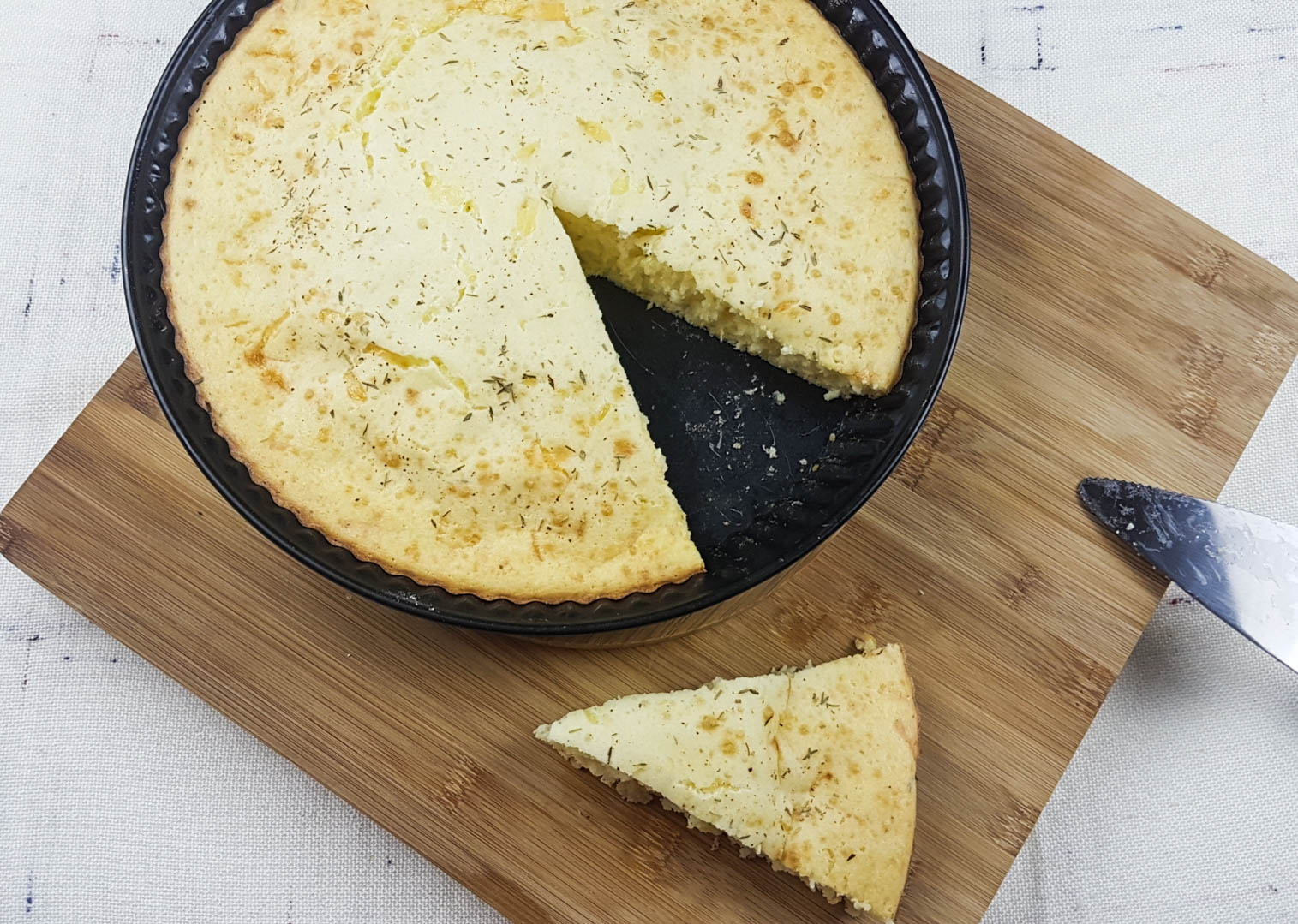 Salty cake with sour milk