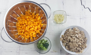 stew with vegetables and cereals