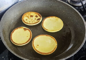 english muffins and eggs